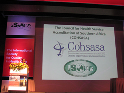 COHSASA received recognition of its latest accreditation at the ISQua Conference in Hong Kong.