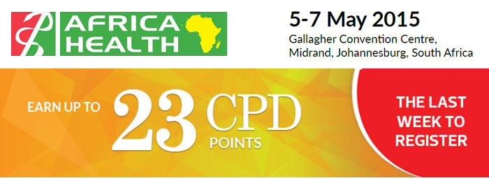Earn up to 23 CPD Credits at Africa Health 2015 – Last Week to Register