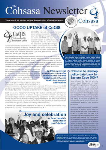 COHSASA News Bulletin, May 2008