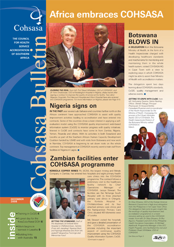 COHSASA News Bulletin, December 2008