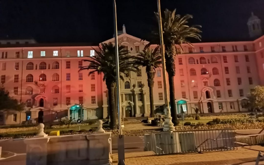 Iconic Groote Schuur Hospital lights up in orange for World Patient Safety Day
