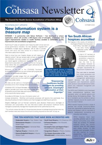 COHSASA News Bulletin, October 2006
