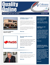 COHSASA Quality Online Newsletter, October 2013