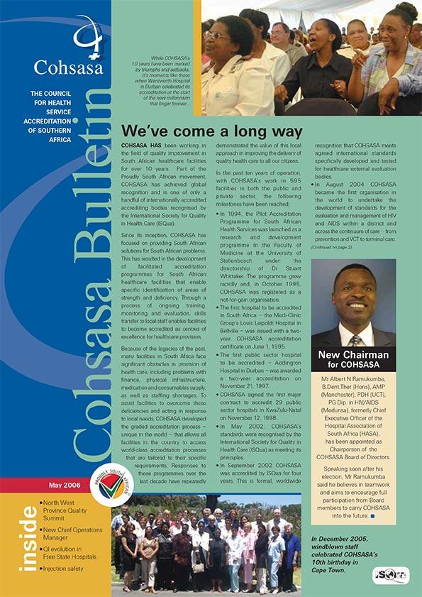 COHSASA News Bulletin, May 2006