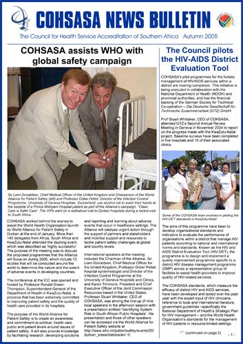 COHSASA News Bulletin, Autumn 2005