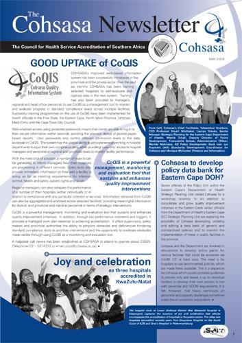 COHSASA News Bulletin, May 2008