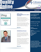 COHSASA Quality Online Newsletter, March 2014